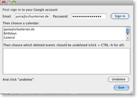 Program to undelete events in Google Calendar